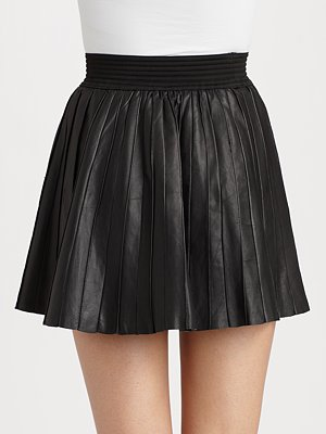 PARKER Leather skirt