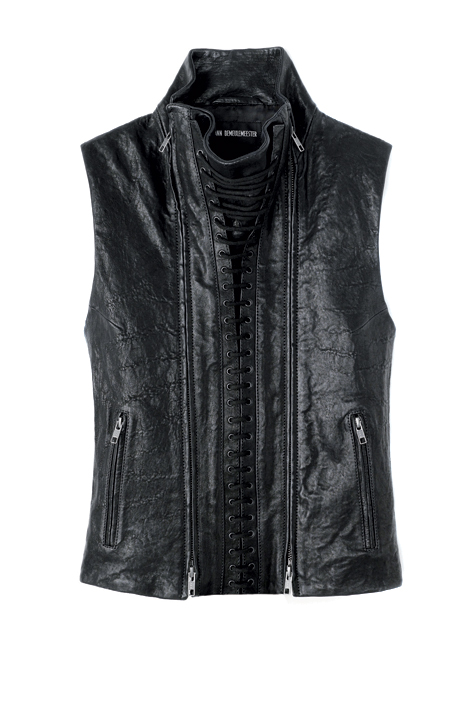 Leather waistcoat Ann Demeulemeester