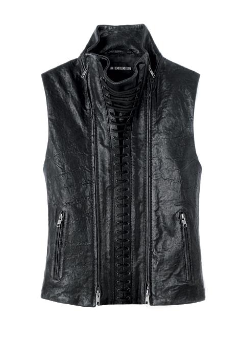 Leather waistcoat Ann Demeulemeester