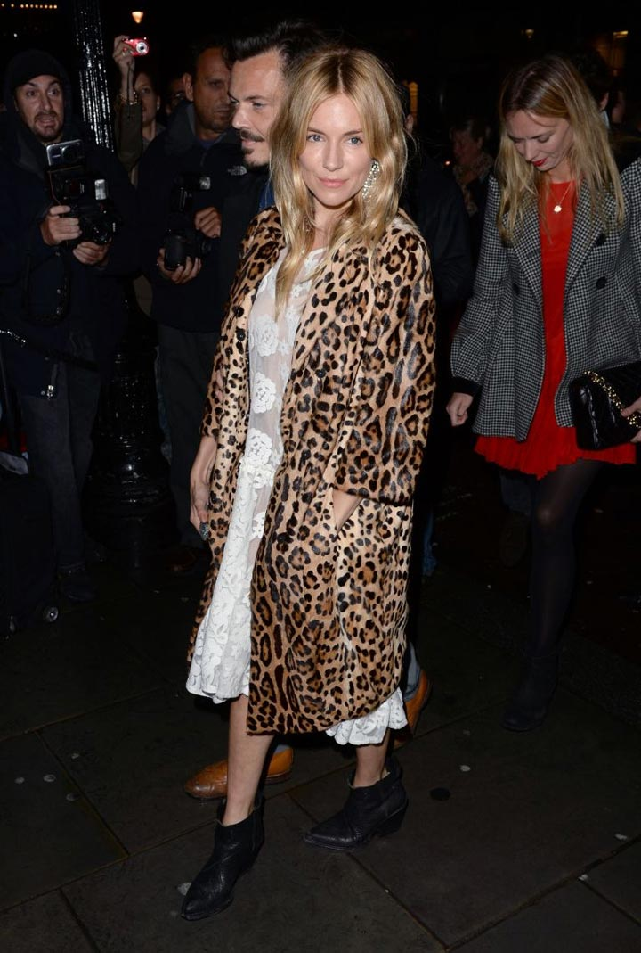 Leopard print coat fall 2013