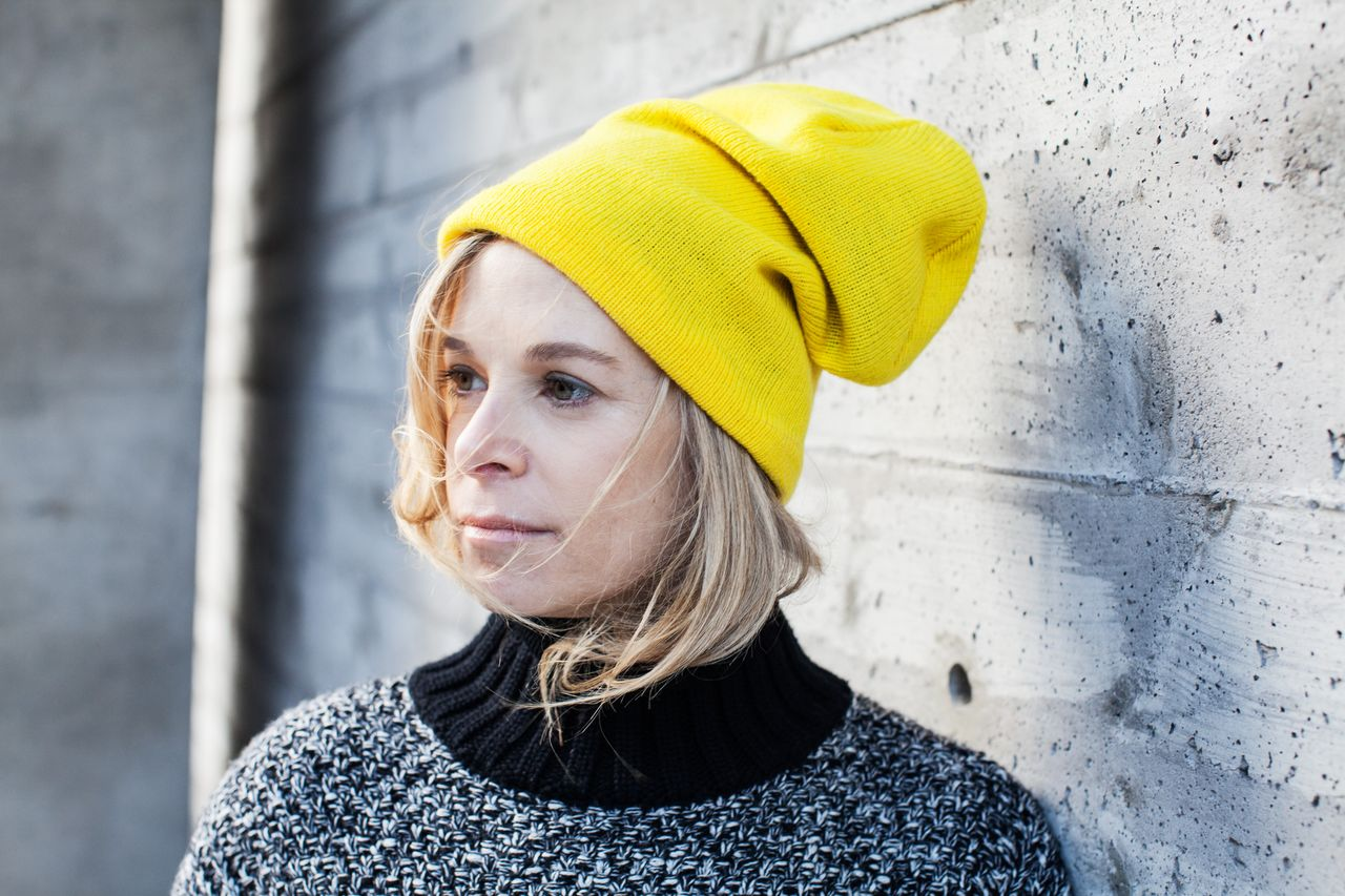 yellow beanie timo weiland sweater