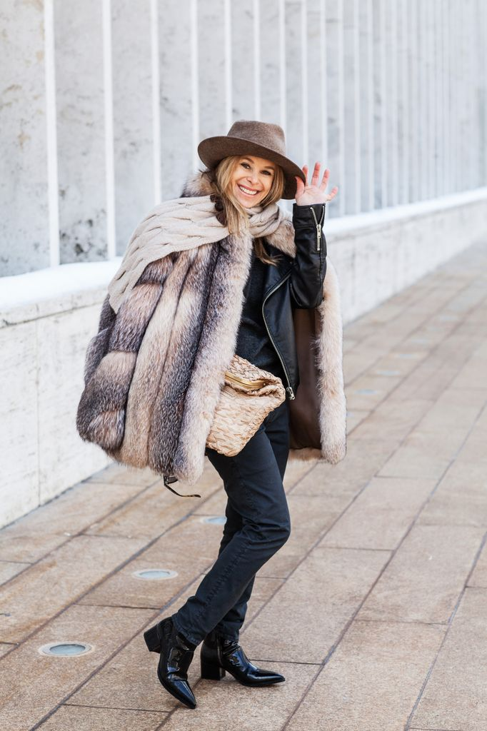 wearing fur during fashion week