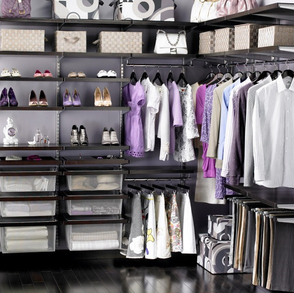 color coordinated closet