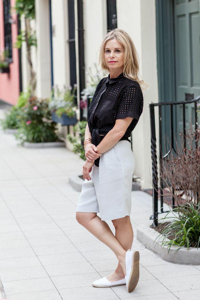 tie front  black blouse