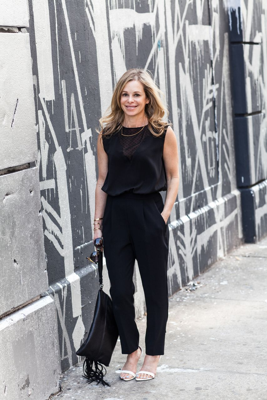 black jumpsuit