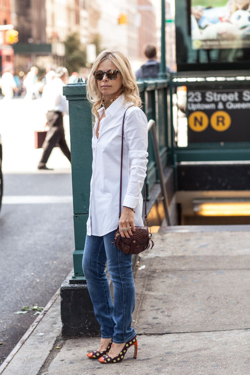 white shirt and denim
